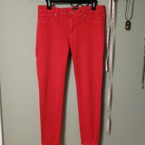 Red stretch jeans